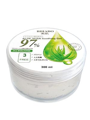 """Bihado """"Aloe Vera Soothing Gel"""" : Увлажняющий гель для лица и тела, с экстрактом алоэ, 300 мл."""