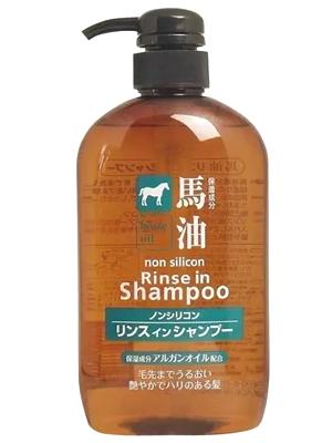 Cosme Station Horse Oil Rinse in Shampoo : Шампунь-кондиционер, с лошадиным маслом, для поврежденных и ломких волос, 600 мл.
