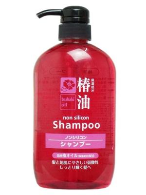 Cosme Station Tsubaki Oil Damage Care Shampoo : Шампунь для ухода за поврежденными волосами, с натуральным маслом камелии, 600 мл.