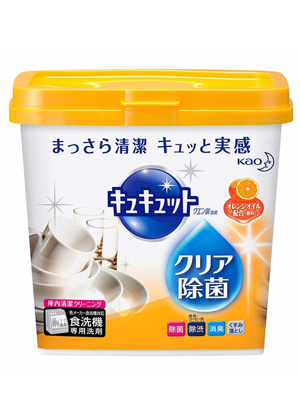 """Kao """"CuCute Citric"""" : Порошок для посудомоечных машин с лимонной кислотой и апельсиновым маслом, 680 г."""