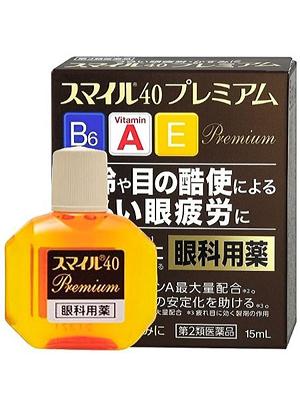 Lion Глазные капли Smile 40 Premium с максимальным содержанием витамина А, 15 мл.