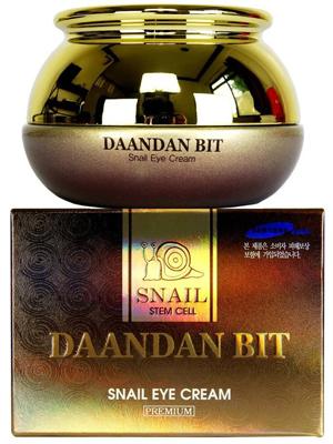 Jigott Daandan bit Snail Eye Cream Крем для век антивозрастной с муцином улитки 50 мл.