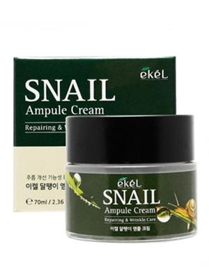 Ekel Ampule Cream Snail Крем для лица ампульный восстанавливающий и разглаживающий морщины с экстрактом слизи улитки 70 мл.