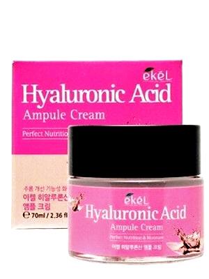 Ekel Ampule Cream Hyaluronic Acid Крем для лица ампульный увлажняющий с гиалуроновой кислотой 70 мл.