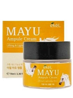 Ekel Ampule Cream Mayu Крем для лица ампульный подтягивающий с лошадиным жиром 70 мл.