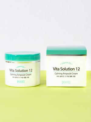 Jigott Vita Solution 12 Calming Ampoule Cream Регенерирующий ампульный крем 100 мл.