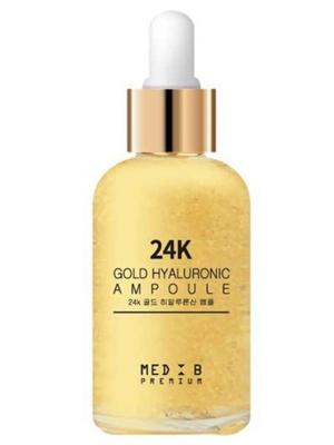 Med B Premium 24K Gold Hyaluronic Ampoule Премиальная ампула (сыворотка) для лица с золотом 24К и гиалуроновой кислотой 55 мл.