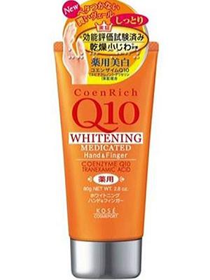 Kose Cosmeport Coen Rich Q10 Крем для рук с коэнзимом Q10, омолаживающий и увлажняющий, без аромата, 80 гр.