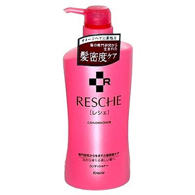 Kracie Resche Conditioner : Кондиционер для поврежденных волос после окрашивания и химической завивки. 550 мл.