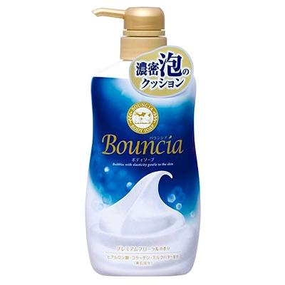 Cow Brand Milky Body Soap Bouncia : Увлажняющее мыло для тела со сливками и коллагеном. С освежающим изысканным цветочным ароматом. 550 мл.