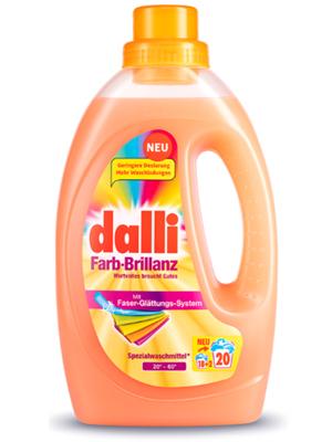 Dalli Farb-Brillanz : Гель для стирки цветных и ярких вещей с формулой яркости цвета и активным ингредиентом Biotouch, 1,1 л.