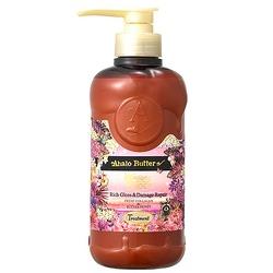 Cosme Company Ahalo Butter Hawaiian Organic Rich Gloss & Damage Repair : Бальзам-ополаскиватель растительный для объема, восстановления и шикарного блеска волос (без сульфатов) 500 мл.