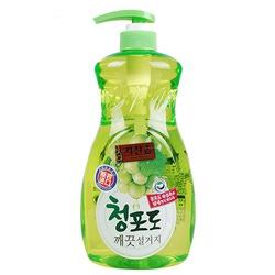 """Mukunghwa Премиальное дезодорирующее средство для мытья посуды, овощей и фруктов в холодной воде """"Зеленый виноград"""". 1 л."""