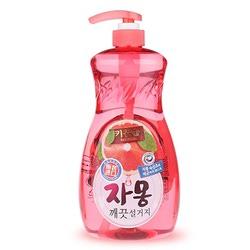 """Mukunghwa Премиальное антибактериальное средство для мытья посуды, овощей и фруктов в холодной воде """"Сочный грейпфрут"""". 1 л."""