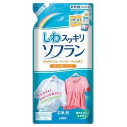 Lion Soflan Fabric Softener : Кондиционер для белья «Разглаживающий» с цветочно-фруктовым ароматом. 500 мл.