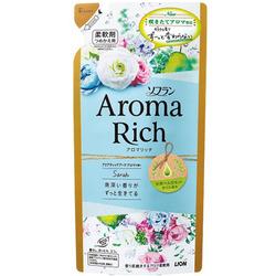 Lion Aroma Rich Sophia : Кондиционер для белья с женственным цветочным ароматом, сменная упаковка, 430 мл.