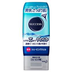 """Kao """"Success"""" : Гель для бритья с освежающим и лечебным эффектом, 180 гр."""