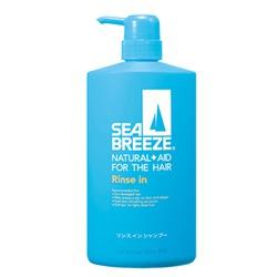 """Shiseido """"Sea Breeze - Морской бриз"""" : Шампунь с кондиционером для жирной кожи головы, против перхоти, с охлаждающим эффектом, c L-ментолом, с ароматом морской свежести, 600 мл."""