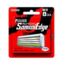 """Feather """"F-System Samurai Edge"""" : Запасные кассеты с тройным лезвием для станка, 8 шт."""