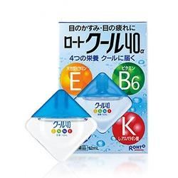 Rohto Vita 40 Cool : Капли для глаз с аминокислотами и витаминами Е, В6, с охлаждающим эффектом, 12 мл.