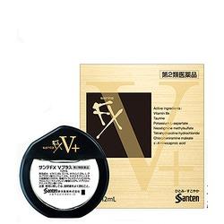 Santen Fx V+ : Витаминизированные капли для глаз с таурином и витамином В6, Sante (золото), 12 мл.
