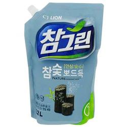 """CJ Lion Chamgreen : """"Древесный уголь"""": Cредство для мытья посуды с древесным углем. 1200 мл."""