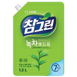 CJ Lion Chamgreen : Средство для мытья посуды, овощей и фруктов. Зеленый чай. 1200 мл.