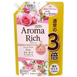 Lion Aroma Rich Diana : Кондиционер для белья c натуральными маслами английской розы, 1200 мл.