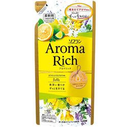Lion Aroma Rich Belle : Кондиционер для белья с ароматом жасмина и цитрусовых, 400 мл.