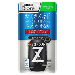 """Kao """"Men's Biore"""" Deodorant Z"""" : Дезодорант-антиперспирант с антибактериальным эффектом, аромат цитрусовых, ролик 55 мл."""