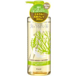 Kracie Umi No Uruoiso Shampoo : Шампунь для ухода за кожей головы, с экстрактами морских водорослей, 520 мл.
