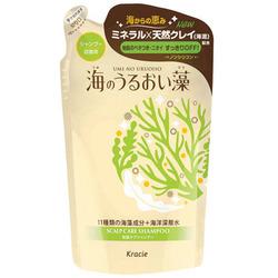 Kracie Umi No Uruoiso Shampoo : Шампунь для ухода за кожей головы, с экстрактами морских водорослей, 400 мл.