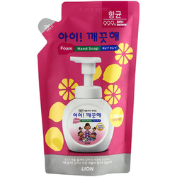 CJ Lion Ai Kekute : Мыло пенное для рук с антибактериальным эффектом, с ароматом лимона, мягкая упаковка, 200 мл.