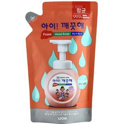 CJ Lion Ai Kekute : Мыло пенное для рук с антибактериальным эффектом, с ароматом персика, мягкая упаковка, 200 мл.