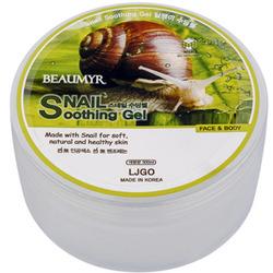 Juno Beaumyr Snail : Успокаивающий гель для лица и тела с улиткой, 300 мл.