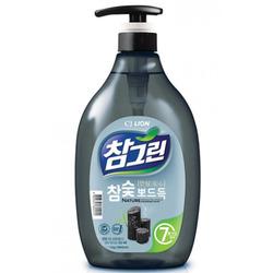 """CJ Lion Chamgreen : """"Древесный уголь"""" : Cредство для мытья посуды с древесным углем. 965 мл."""