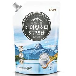CJ Lion «Chamgreen» : Средство для мытья посуды с содой и лимонной кислотой, 1200 мл.