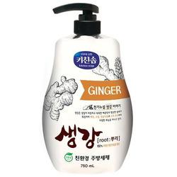 CJ Lion : Средство для мытья посуды, овощей и фруктов в холодной воде с экстрактом имбиря, 750 мл.
