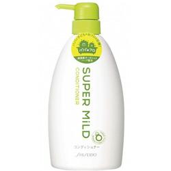 """Shiseido Super Mild : Кондиционер для волос """"Нежный уход"""", с экстрактом ромашки и розмарина, с ароматом трав, 600 мл."""