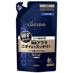 Mandom Lucido Deodorant Shampoo : Лечебный мужской шампунь для глубокой очистки кожи головы и удаления неприятного запаха с антибактериальным эффектом и флавоноидами (для мужчин 40+), 380 мл.