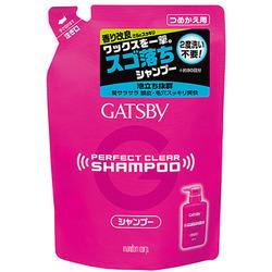 Mandom Gatsby Perfect Clear : Мужской шампунь для экстрасильного очищения волос и кожи головы с охлаждающим эффектом против перхоти, 320 мл.