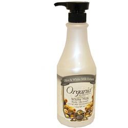White Cospharm Organia White Milk Body Cleanser : Гель для душа с Молочным протеином и Оливой, 750 мл.