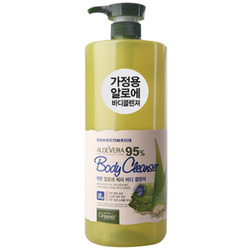 White Cospharm White Organia Good Natural Aloe Vera Body Cleanser : Гель для душа с Алоэ Вера, 95%+ комплекс витаминов и микроэлементов, 500 мл.