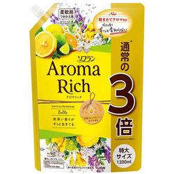Lion Aroma Rich Belle : Кондиционер для белья с ароматом жасмина и цитрусовых, 1200 мл.