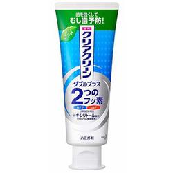 Kao Clear Clean Double Plus Light Mint : Лечебно-профилактическая зубная паста с микрогранулами комплексного действия (свежий мятный вкус) 130 гр.