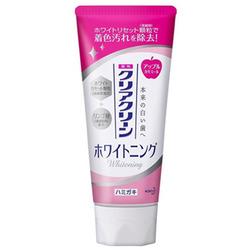 Kao Clear Clean Whitening Apple CST : Лечебно-профилактическая зубная паста с микрогранулами отбеливающая (вкус свежего яблока) 120 гр.