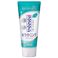 Kao Clear Clean Whitening Clear M ST : Лечебно-профилактическая зубная паста с микрогранулами отбеливающая (свежий мятный вкус) 120 гр.