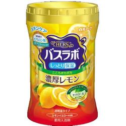 """Hakugen """"Hakugen Earth - Hers Bath Labo"""" : Увлажняющая соль для ванны с восстанавливающим эффектом с гиалуроновой кислотой, с ароматом лимона, банка 640 гр."""