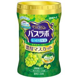 """Hakugen """"Hakugen Earth - Hers Bath Labo"""" : Увлажняющая соль для ванны с восстанавливающим эффектом с гиалуроновой кислотой, с ароматом винограда, банка 640 гр."""