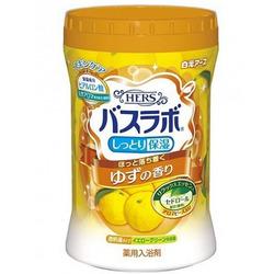 """Hakugen """"Hakugen Earth - Hers Bath Labo"""" : Увлажняющая соль для ванны с восстанавливающим эффектом с гиалуроновой кислотой, с ароматом юдзу, банка 680 гр."""